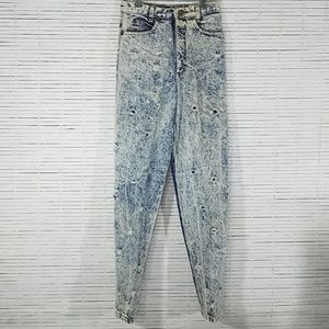 Vintage Palmetto's Acid Washed Jeans Tapered Legs